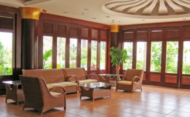 Rattan set living room