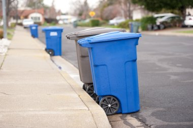 Blue is for recyclables