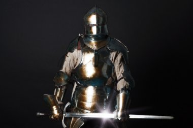 Great knight holding his sword
