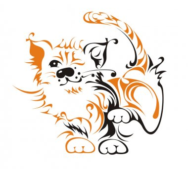 The small funny tiger