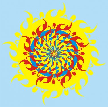 The psychodelic sun