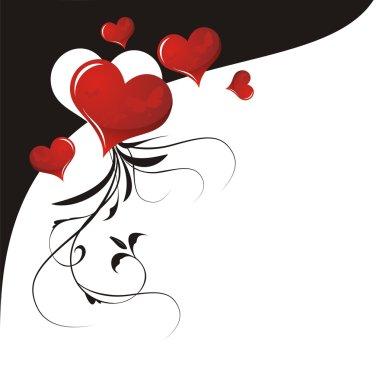 Heart Valentines Day background clip art vector
