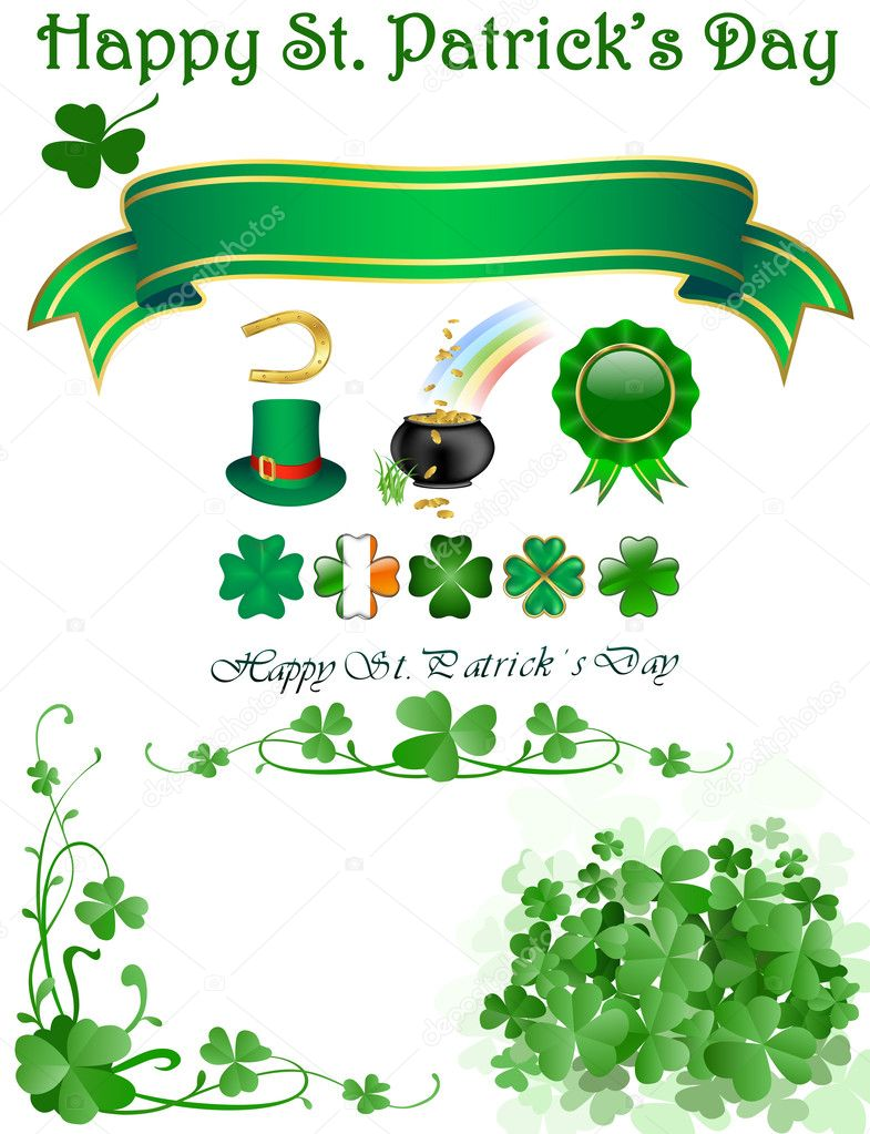 St patrick`s day icons