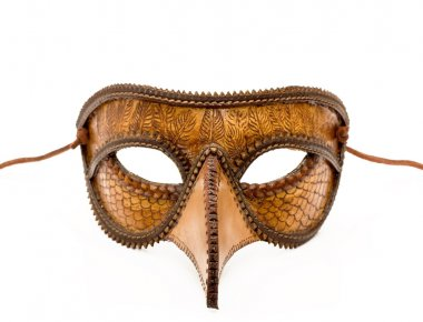 Leather Italian half mask