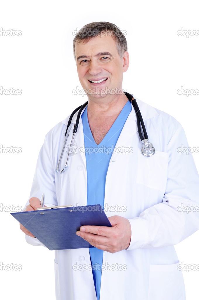 Mature men in nursing uniforms amusing piece
