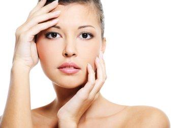 Beauty female face of a beauty asian