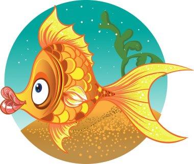 Gold fish. vector