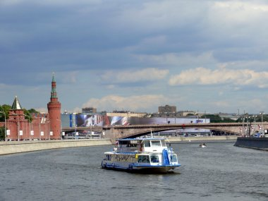 Boat in the Moscow river