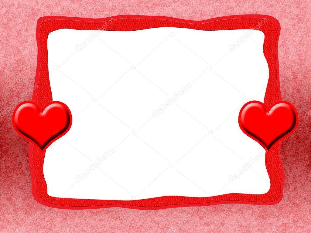 Cornice con cuori rossi foto stock skovoroda 1617225 for Frame per foto