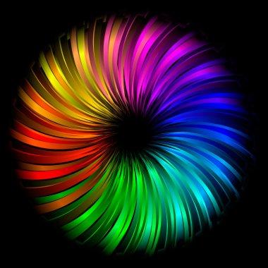 Rainbow abstract element
