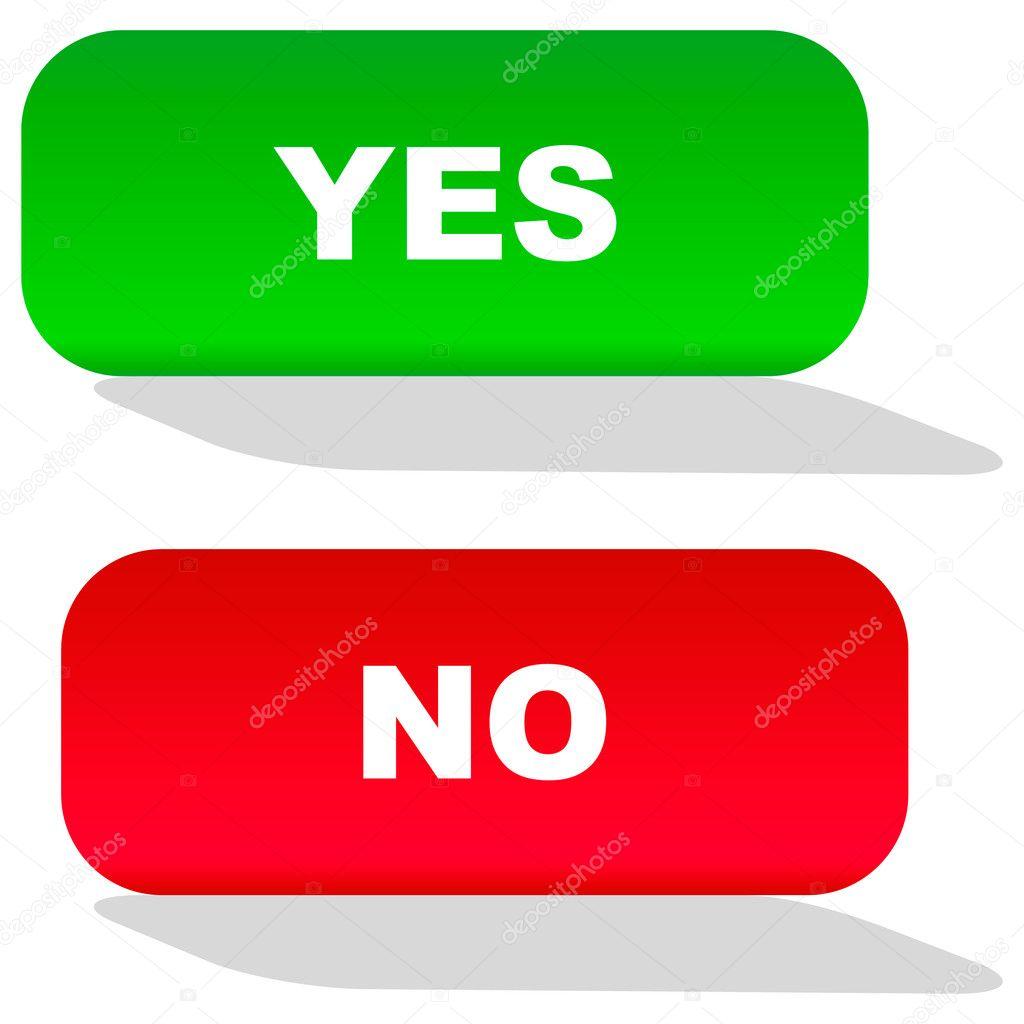 Картинки кнопок да нет белое