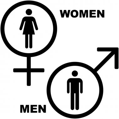 Male and female symbol.