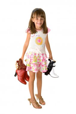 The girl and footwear