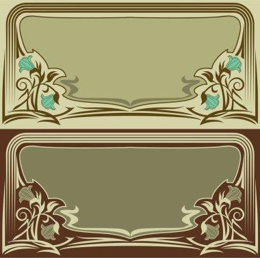 Vintage horizontal frames