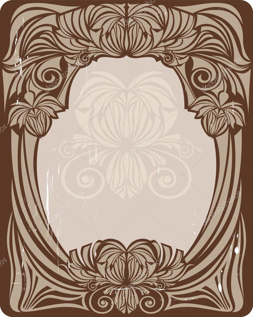 marco de estilo art nouveau — Vector de stock © luneelena #1474067