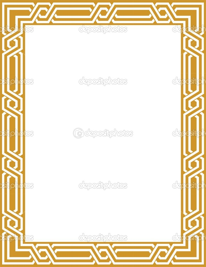 Bordure dor e image vectorielle shazad 1462329 for Miroir bordure doree