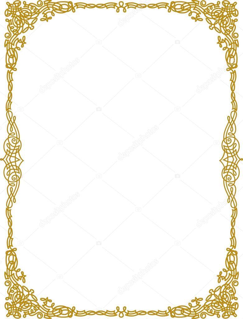 Golden Border векторное изображение Shazad 1462549