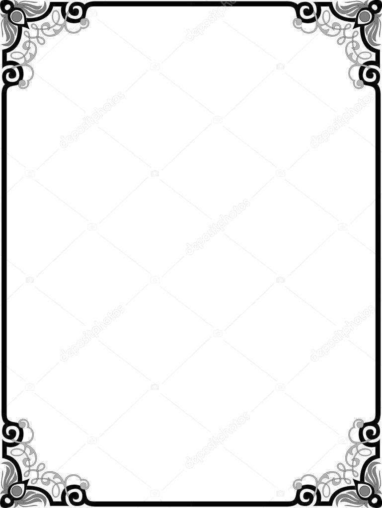 vector border stock vector shazad 1482767 rh depositphotos com border vector vintage border vector design