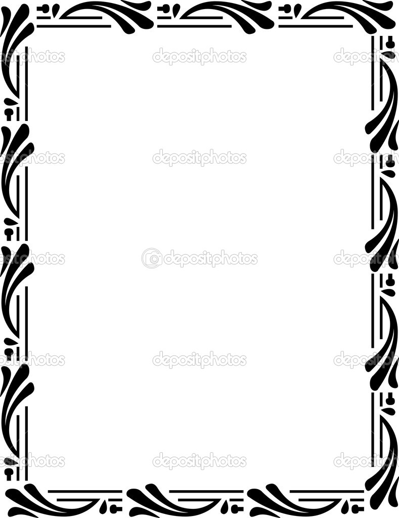 vector border stock vector shazad 1484322 rh depositphotos com border vector png border vector png