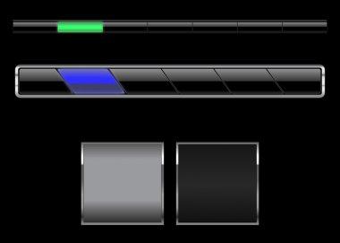 Black navigation bars
