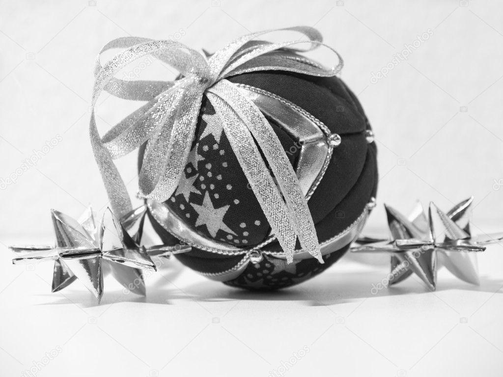 D coration de no l noir et blanc photographie for Decoration noir et blanc