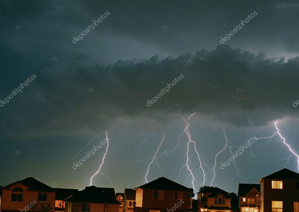 Weather lighting eruption