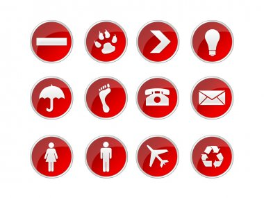 Illustration of icons and button for the web stock vector