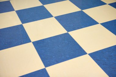 Color checkered marble floor
