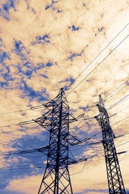 High voltage power line pillar