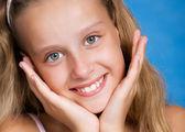 Detailní portrét krásné mladé dívky