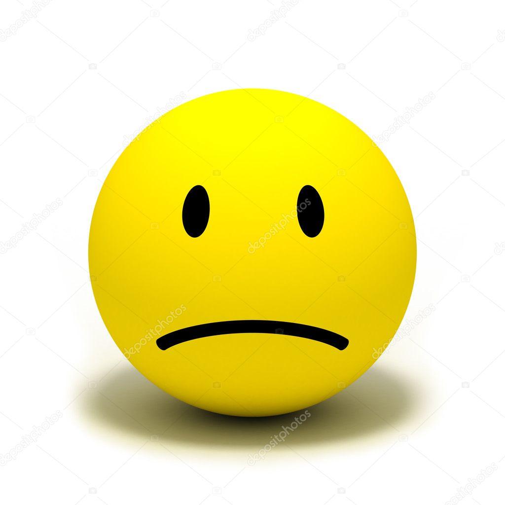 Sad stock photo okeen 1489712 sad yellow face symbol over white background photo by okeen buycottarizona Gallery