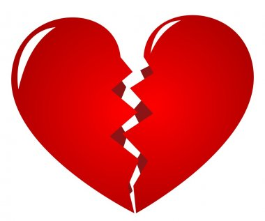 Broken heart - symbol of lovelorn