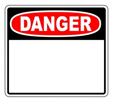 Danger sign with blank space for your text stock vector