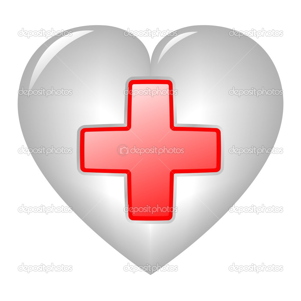 Hilfe-Symbol auf Herz — Stockfoto #2597921 | {Erste hilfe symbol 66}