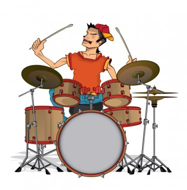 Drummer isolated