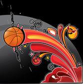 Fotografia palla basket arcobaleno