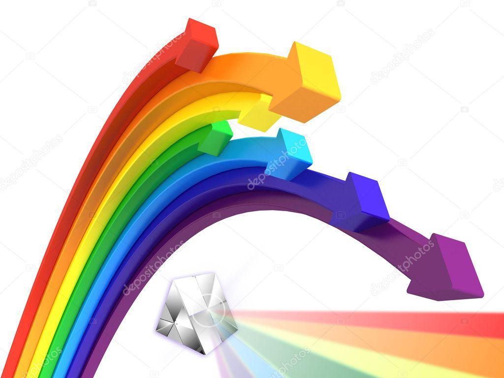 Rainbow arrows
