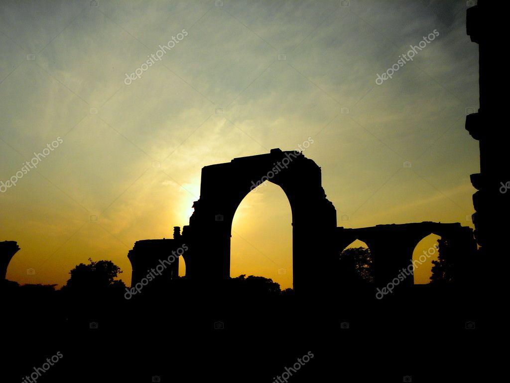 Sunset amongst ruins