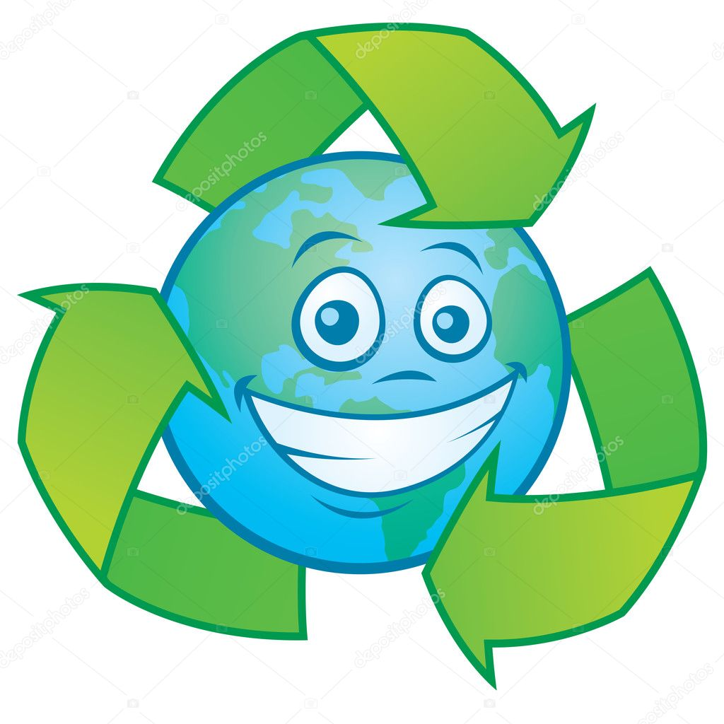 dibujos animados de la tierra con el s u00edmbolo de reciclar recycle symbol vector art recycle symbol vector free download