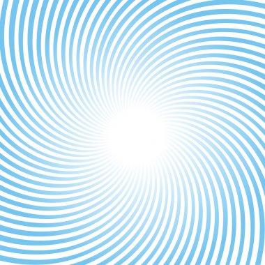 Blue Rotating Radiant Background