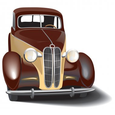 Vectorial image of vintage car. Contains gradients and blends. clip art vector
