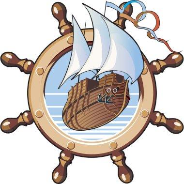 Ship & wheel