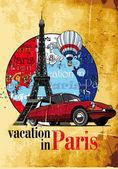 dovolená v Paříži grunge