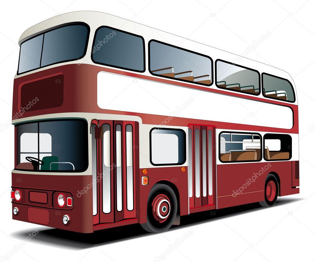 autobús de dos pisos — Vector de stock © bussja #2216122