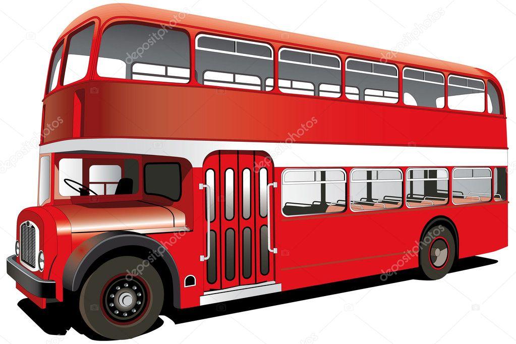 autobús rojo de dos pisos — Archivo Imágenes Vectoriales © bussja ...
