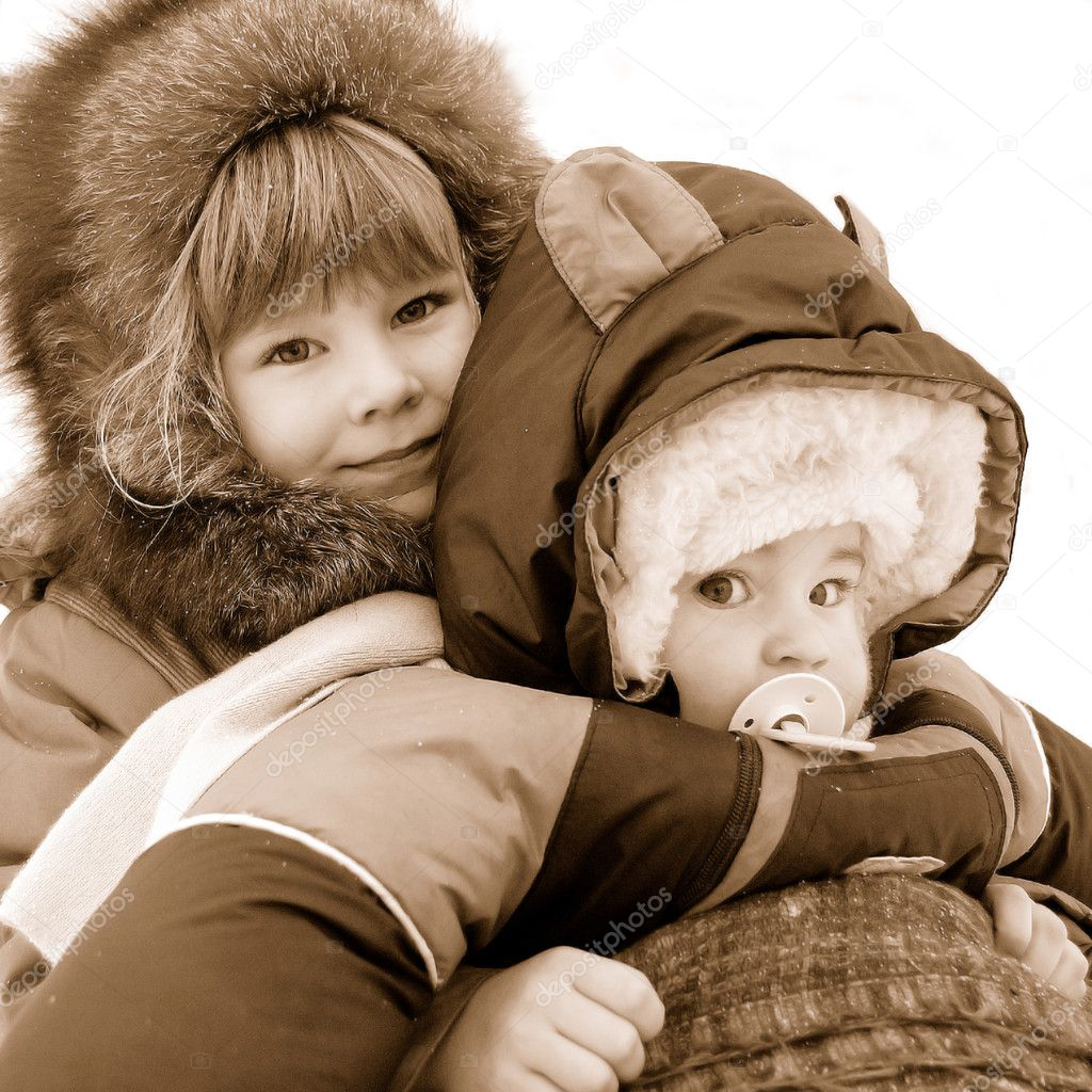 small children are very glad to winter stock photo 1467820 - Small Children Images