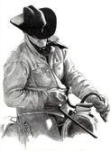 ceruzarajz cowboy-nyeregben
