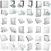 3d render of DVD boxes on white backgrou