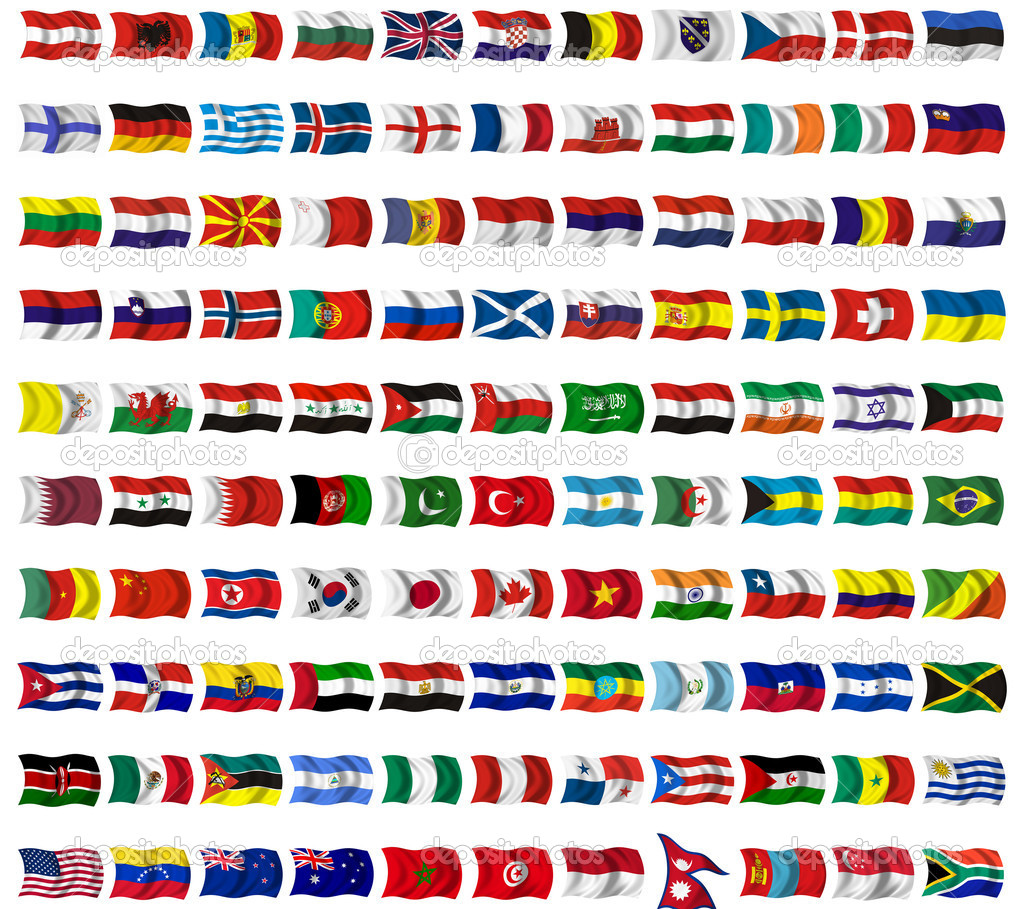 Collection of flags from around the worl
