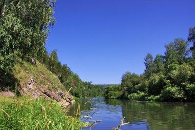 Nature of the Ural River Chusovaya